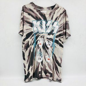 KISS Vintage 1980s Tie Dye Graphic Oversized Shirt